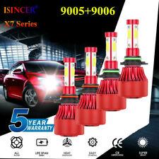 4pcs 9005 9006 4800W 660000LM Combo LED Headlight Kits High Low Beam Bulb 6000K