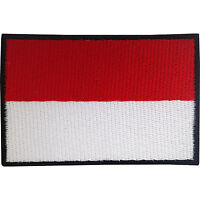 Indonesia Flag Patch Iron On Badge / Sew On Indonesian Flag Embroidered Applique