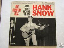 HANK SNOW    BIG COUNTRY HITS