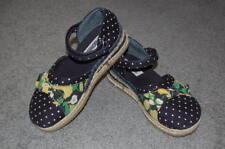 GYMBOREE Prep Club Navy Blue Print Espadrilles Girl's 12 Spring Shoes 5T 5 6