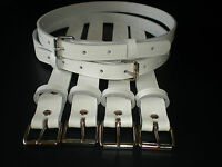 Coach built vintage pram real leather suspension straps in white