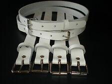 Cinturini per Carrozzina Vintage in Vera Pelle Bianca