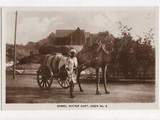 Camel Water Cart Aden Vintage RP Postcard 477a