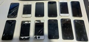 Lot of 12 iPhone 4 4S 5 5S for parts or repair only