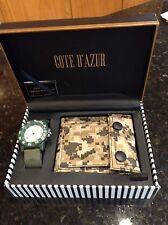Cote d'Azur Men's Jewelry & Wallet Set Camoflauge Watch Wallet NEW