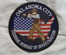 Oklahoma City FBI Federal Bureau of Investigation  Cloth Patch