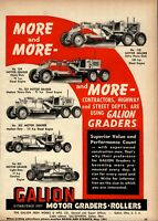 1951 Galion Iron Works Print Advertisement: Motor Graders, All Models Pictured