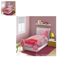 Toddler Bedding Set 4 Pc Comforter Fitted And Flat Sheet Pillowcase