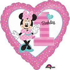 "Amscan International 8.724.902 5 cm ""minnie Mouse 1st Birthday Standard (q3n)"