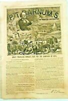 P. T. Barnum's The World In Contribution Harper's Weekly March 29, 1873 Signed