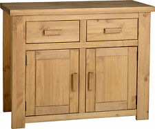 Tortilla 2 Door 2 Drawer Sideboard in Distressed Waxed Pine Solid Wood