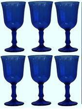 Set di 6 bicchieri da acqua dal gambo blu Bicchieri da Vino Capacità 240ml CALICI DA VINO