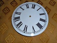 """Round Paper Clock Dial- 3 3/4"""" M/T - Roman-High Gloss White - Face / Clock Parts"""
