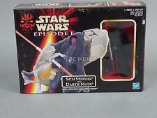Vintage Star Wars SITH SPEEDER AND DARTH MAUL Vehicle /Figure Set  #rk1