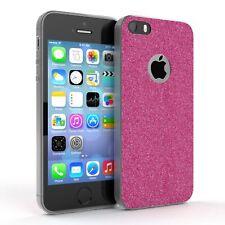 Schutz Hülle für Apple iPhone SE / 5 / 5S  Glitzer Cover Handy Case Pink