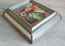Marquise de Sévigné rare boîte de chocolat ancien coffret  miroir verre aglomise