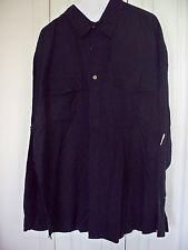 NEW XL 17  Jamaica Jaxx Navy Dk Blue  Mens Shirt  RARE Long Sleeve 2 pockets
