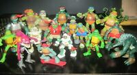 (18) TMNT Figures Lot Leonardo Donatello Raphael Michelangelo W Accessories