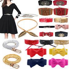 Women's Leather Wide / Skinny Belt Elasticated Buckle Bowknot Waist Band Belts
