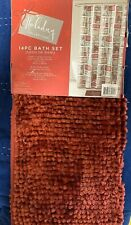 Holiday Collection Christmas 14 Piece set  Fabric Shower Curtain  Bath Rug Hooks