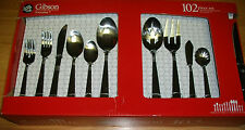 GIBSON STAINLESS STEEL FLATWARE SET (102 PIECE)