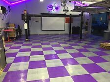 Speedway Garage Tile Mfg. Purple  Garage Floor Tiles - Diamond plate