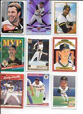 Neil Walker plus 8 Pirates baseball card lot.