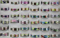 Verschiedene 25Stk EdelstahlRinge SonderPosten bunt hohe Qualität Ring 6mm Width