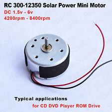 DC 1.5V-6V 3V 300 Mini Micro Motor de energía solar para reproductor de CD ROM/DVD/Ventilador Hazlo tú mismo