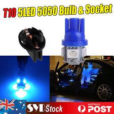 4 X  W5W 158 T10 Led Bulb 5050 5SMD + 4 x t10 Scokets Base License Plate Lights