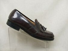 Bostonian Burgundy Leather Tassel Loafers Dress Shoes Boots Mens Size 10.5 M