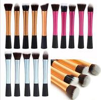5PC Pro Cosmetic Stipple Powder Blush Foundation Makeup Eye Brushes Tools