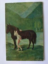 Germany Vintage colour Postcard  c1918 Das Geheimnis by W Stanke