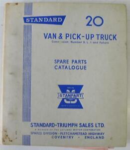 STANDARD 20 Van/Pick Up Truck Illustrated Spare Parts List c1963