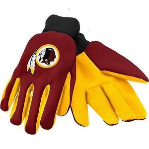 Washington Redskins Burgundy Team Logo Licensed NFL Sport Utility Gloves-New!