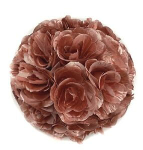 "10"" (25 cm) Flower Kissing Ball Rose Pomander Wedding Party Home Decoration"