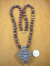 """(v810) 2-1/4"""" Rare EXTINCT Fossil Siberian Woolly Mammoth TOOTH pendant necklace"""