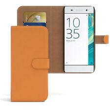 Bolso para Sony Xperia xa flip case, funda protectora, funda, protección naranja