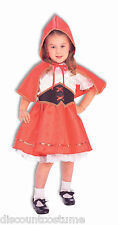 DELUXE LIL' RED RIDING HOOD GIRLS HALLOWEEN COSTUME TODDLER SIZE 2-4
