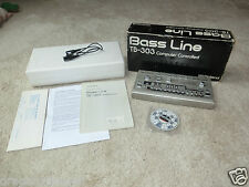 Roland tb-303 Bass Line in OVP, midi in/out Modifica, 2j. GARANZIA