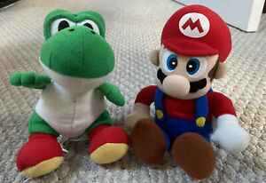 "Vintage Toysite Nintendo Super Mario & Yoshi Posable Plush 8"" Very RARE"