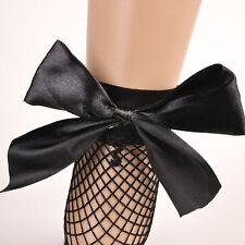 Hot Fashion Women Black Fishnet Bow Ankle Socks Mesh Lace Fish Net Short Socks