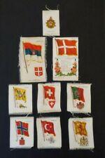 8 Cigarette Flag Tobacco Silks & 1 Woodmen of World ~ Zira ~ Nebo ~ Piedmont