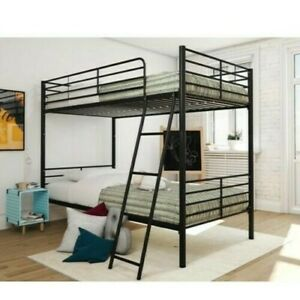 Convertible Metal Mainstayes loft bunk bed (Black and Blue)