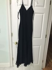 GAI MATTIOLO COUTURE LONG ELEGANT EVENING GOWN DRESS BLACK SIZE ITALIAN 46