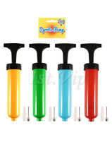Portable Manual Air Pump Bike Balloon Inflator With Nozzle Blow Up Party Wedding