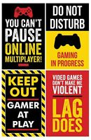 Gaming Posters, Set of 4, 11x17 Inches, Video Game Artwork, Gamer Wall Art