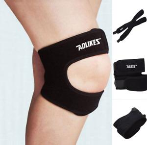 Patella Elastic Knee Brace Strap Fastener Support Fitness Sport Compression
