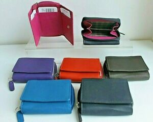 RFID protected Small Golunski Compact Leather Wallet Purse Various Colours