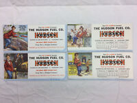 4 Vintage 1952 & 1953 Advertising The Hudson Fuel Co Cleveland Ohio Ink Blotters